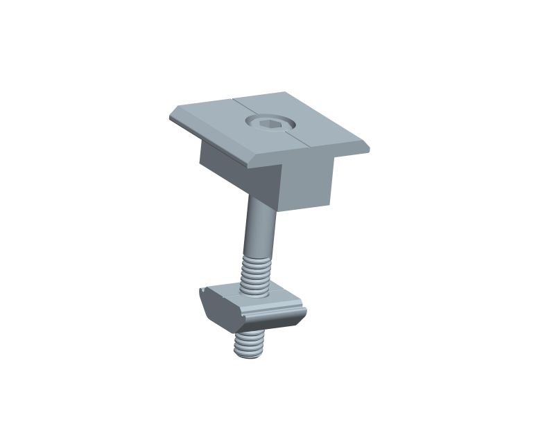 ballasted flat roof mounting system inter clamp