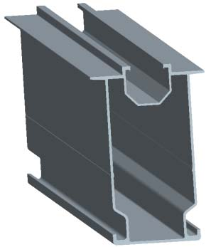 rail for ground mounting system
