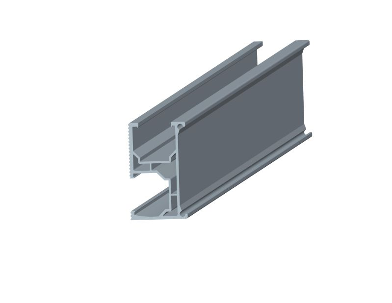 Rail for triangle rooftop system