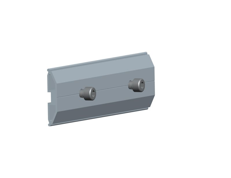 Rail splice for triangle rooftop system