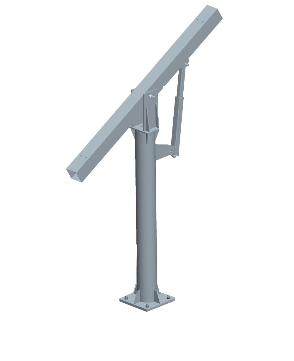 Adjustable tube with beam for solar pv ground mounting system