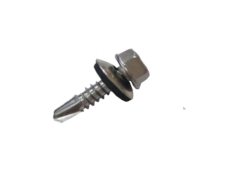 Self-piercing screws for metal sheet roof mounting system