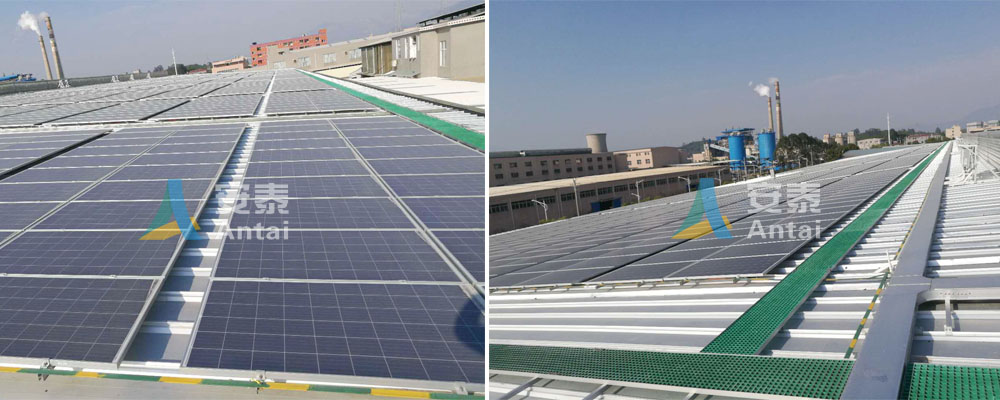 Roof solar plant on Antaisolar factory
