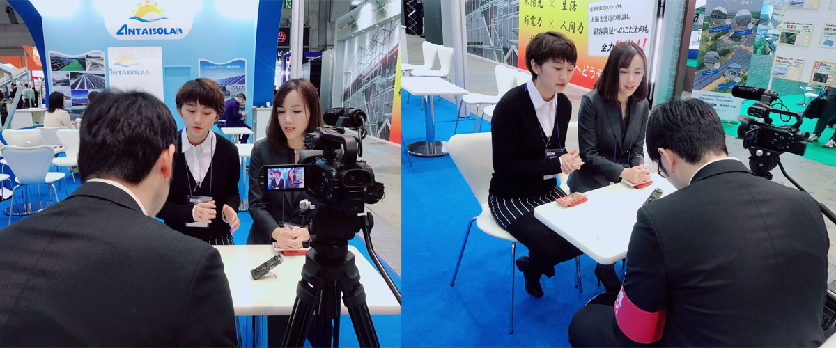 Antaisolar attracted the Japanese media to come to interview and report.