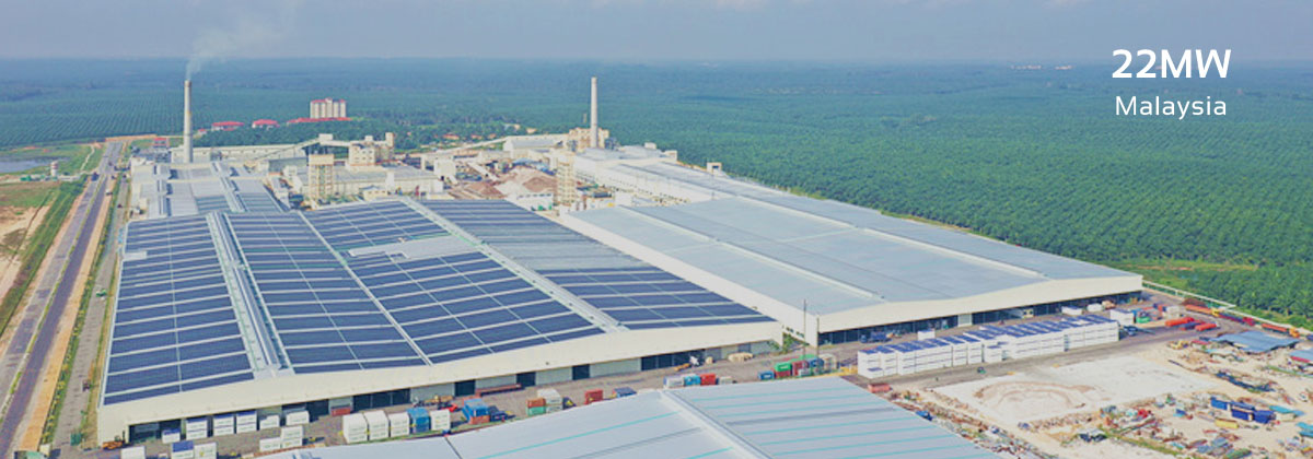 roof solar plant in Malaysia, solar racking designed and provided by Antaisolar